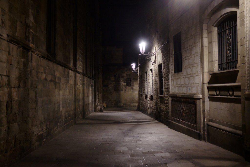 Gothic Quarter by night